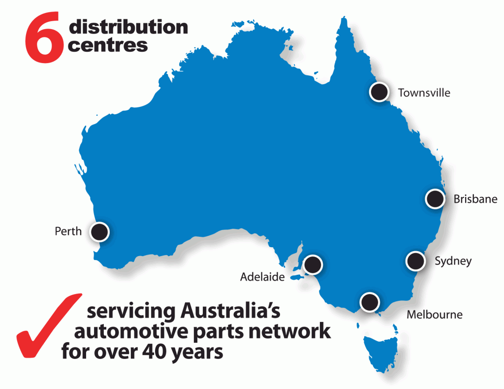 DBA Distribution Centres in Australia